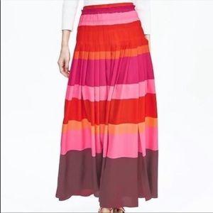 COPY - Banana republic pleated striped maxi skirt